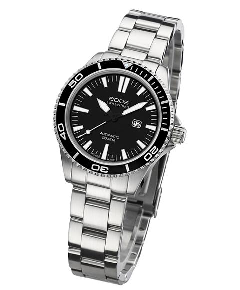 エポス レディース 腕時計 4413BKM 自動巻 epos ダイバーズ クロノグラフ