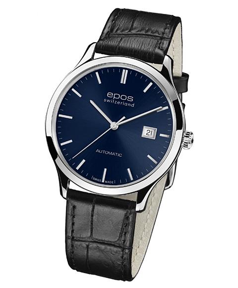 epos エポス Originale 腕時計 3420BL 自動巻 レザーストラップ ブルー系