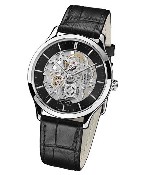 epos エポス Originale 腕時計 3420SKGY 自動巻 スケルトン レザーストラップ