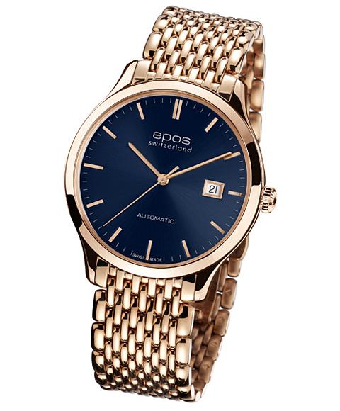 アウトレット 半額 エポス オリジナーレ 3420RGPBLM 自動巻 メンズ 腕時計 Originale epos ゴールド ブルー系