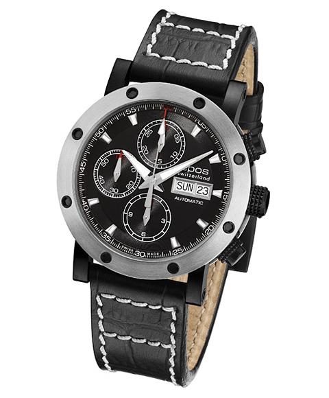 エポス スポーティブ 3421BSBK 腕時計 メンズ 自動巻 Sportive epos