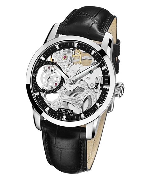 海外取寄せ(納期2~3ヶ月程度)epos エポス ソフィスティック 腕時計 3424SKBK 手巻 スケルトン