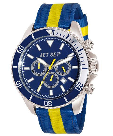 ワケあり アウトレット 67%OFF! JET SET ジェットセット 腕時計 J21203-14 SPEEDWAY クロノグラフ ブルー系
