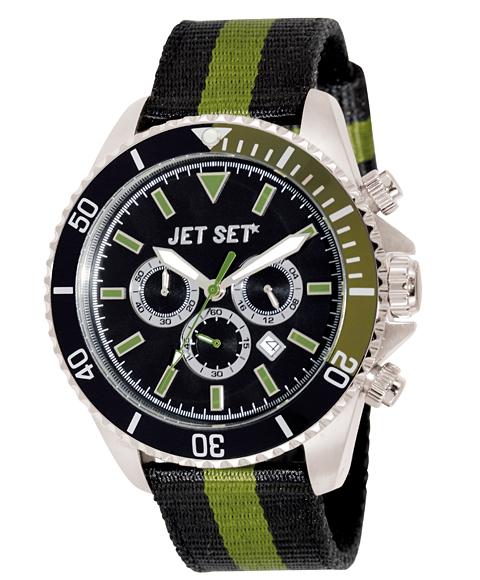ワケあり アウトレット 67%OFF! ジェットセット J21203-16 SPEEDWAY クロノグラフ 腕時計 メンズ JET SET クロノグラフ オリーブ系