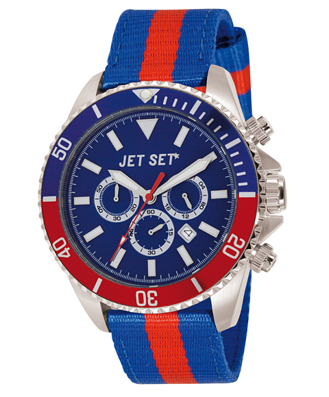 ワケあり アウトレット 67%OFF! JET SET ジェットセット 腕時計 J21203-17 SPEEDWAY クロノグラフ