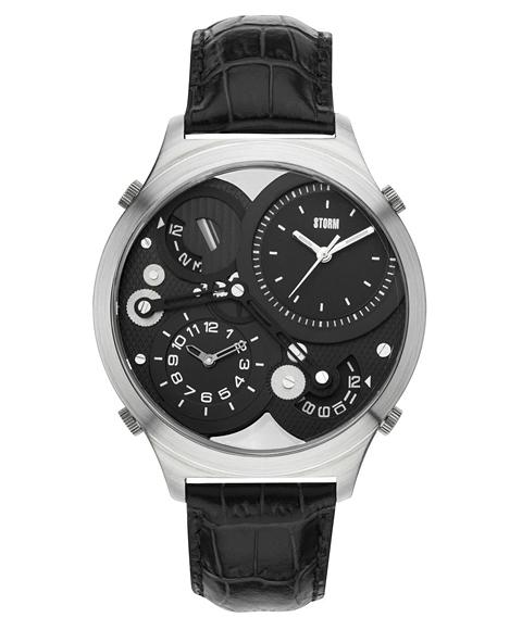 ストーム ロンドン QUADRA 47186BK 腕時計 メンズ STORM LONDON レザーストラップ
