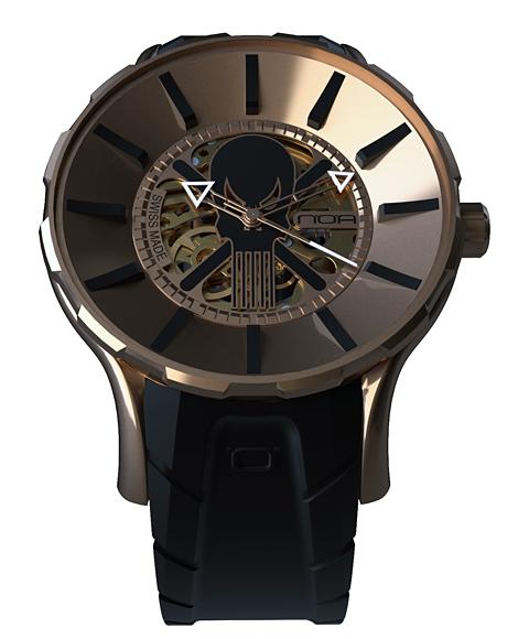 ワケあり アウトレット 67%OFF! ノア ゴースト GPGST001 自動巻き 腕時計 メンズ NOA GHOST ※入荷時期によってストラップはラバーまたはレザーとなります。 スケルトン ゴールド