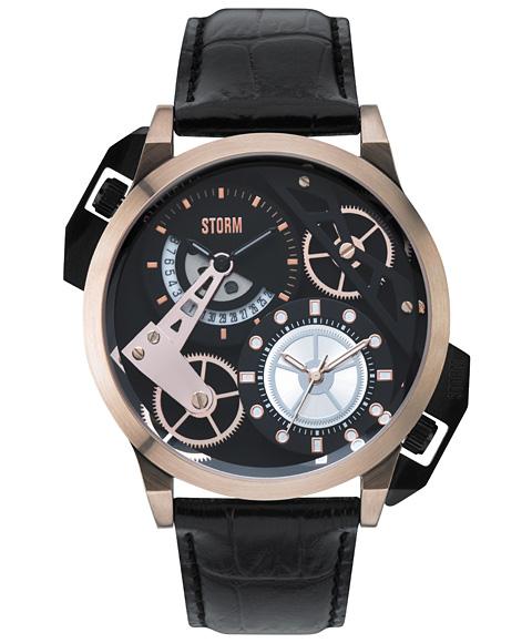 ストーム ロンドン DUALON LEATHER 47147RGBK 腕時計 メンズ STORM LONDON ゴールド レザーストラップ