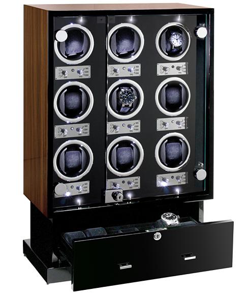 予約受付中(納期:お問合せください) ユーロパッション ウォッチワインディング ボックス アダプター付 FWD-17100EB 【ラッピング不可】 ※時計は含まれておりません EURO PASSION