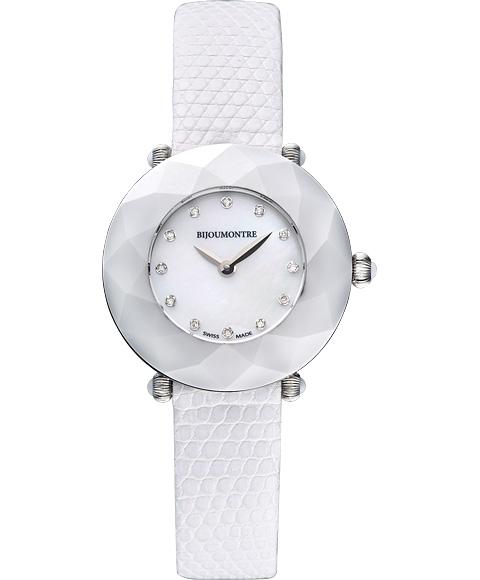 アウトレット 62%OFF! ビジュモントレ エンジェルアイコレクション 53010T 腕時計 レディース BIJOU MONTRE Angel Eye Collection 限定モデル ホワイト系