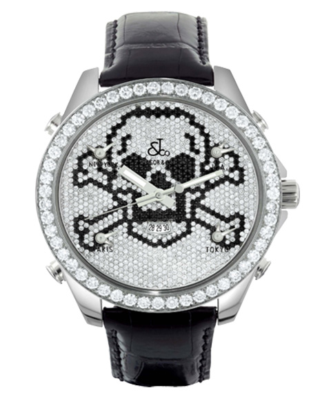 ジェイコブ JACOB&CO FIVE TIME ZONE 47mm JC-SKULLD 腕時計 ファイブタイムゾーン ダイヤモンドベゼル