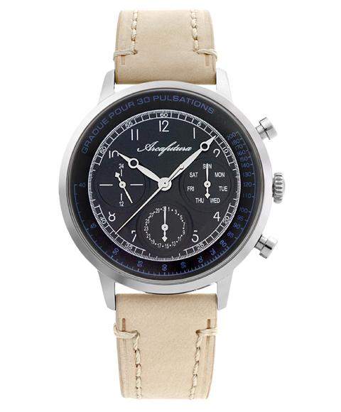 通販 激安 アルカフトゥーラ 爆買い送料無料 ARCAFUTURA 腕時計 700BKBE レザーストラップ ブラック系
