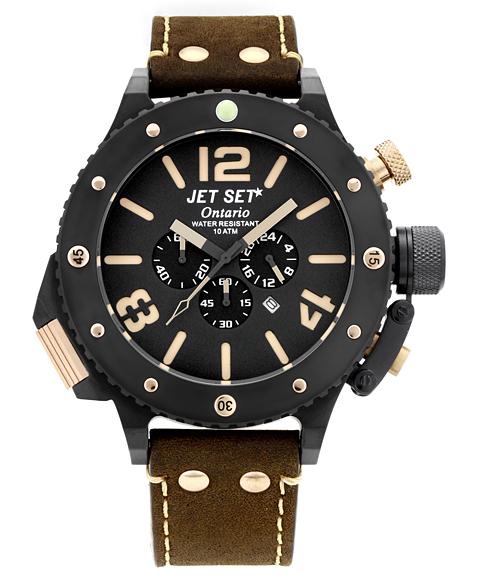 ワケあり アウトレット 67%OFF! JET SET ONTARIO ジェットセット オンタリオ クロノグラフ 腕時計 J3710B-266 ブラウン系