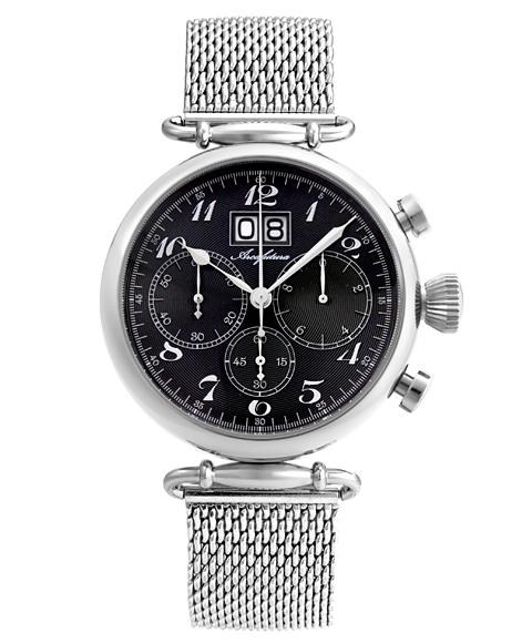 アルカフトゥーラ 腕時計 420BK-M ARCAFUTURA メンズ クロノグラフ メタルブレス