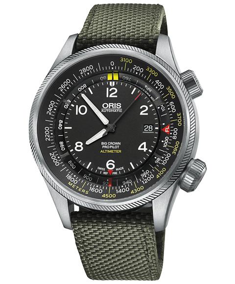 アウトレット 55%OFF! オリス ビッグクラウン プロパイロット 73377054164DOL(テキスタイル/オリーブ) 腕時計 メンズ ORIS Big Crown 733 7705 4164DOL