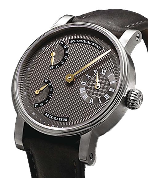 シャウボーグ レトロレーター RETROLATEUR3-GY グレーダイヤル/ゴールドハンズ 腕時計 メンズ SCHAUMBURG watch レザーストラップ