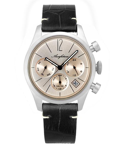 アルカフトゥーラ 腕時計 866PKBK ARCAFUTURA レザーストラップ