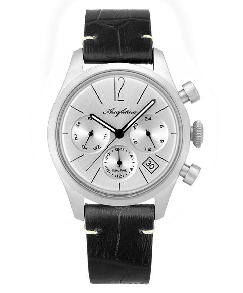 アルカフトゥーラ 腕時計 866SLBK ARCAFUTURA レザーストラップ