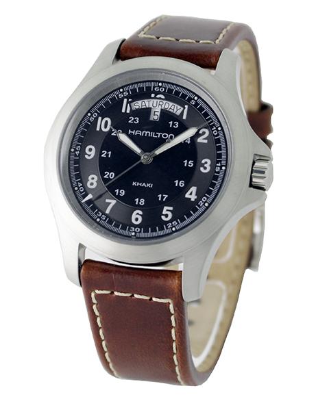 ハミルトン HAMILTON  H64451533 カーキ キング レザー メンズ 腕時計