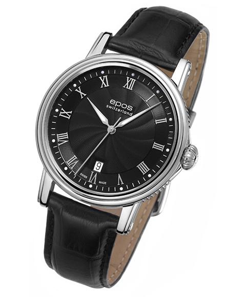 epos エポス エモーション 腕時計 3390RBK 自動巻 レザーストラップ