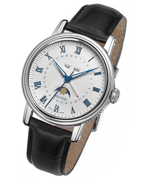 エポス エモーション カレンダー 3391RWH 自動巻き 腕時計 メンズ epos レザーストラップ