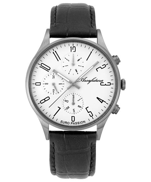 アウトレット アルカフトゥーラ EC483WH 腕時計 メンズ ARCAFUTURA レザーストラップ