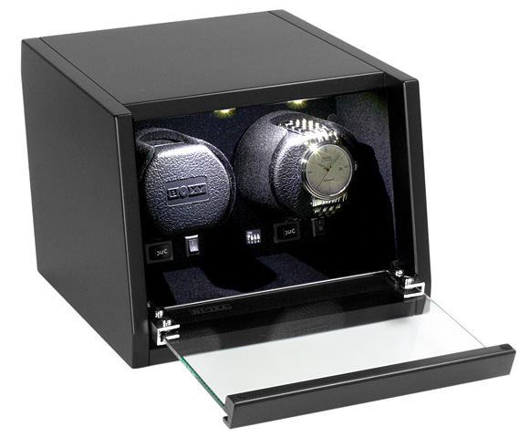 予約受付中(納期:お問合せください) ボクシーデザインウォッチワインダー CA-02 アダプター付 【ラッピング不可】 ワインディングマシーン BOXY Design Wooden winder ※時計は付属していません