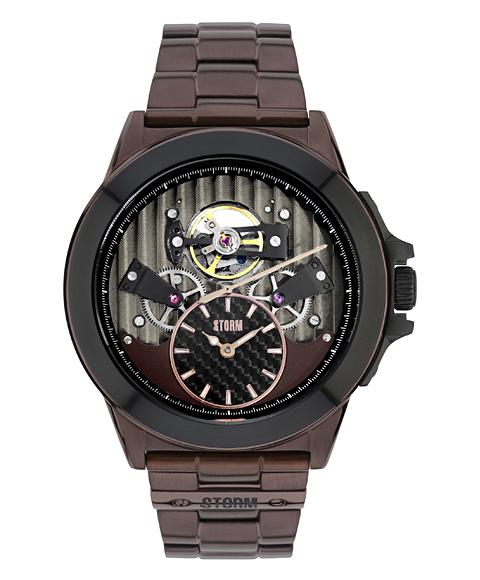 ストーム ロンドン EXELSA 47242BR 腕時計 STORM LONDON 自動巻 ブラウン系