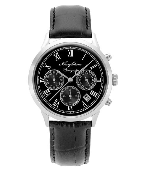 アルカフトゥーラ 0001-01 腕時計 メンズ クロノグラフ クオーツ ARCAFUTURA レザーストラップ