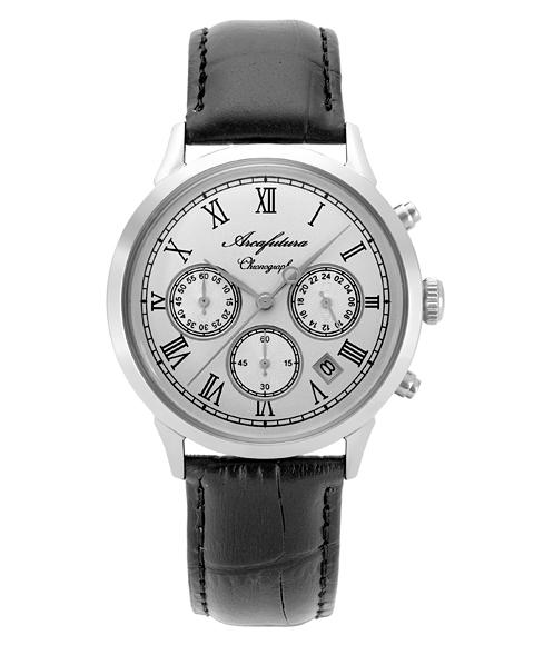 アルカフトゥーラ 0001-02 腕時計 メンズ クロノグラフ クオーツ ARCAFUTURA レザーストラップ