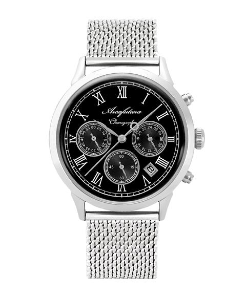 アルカフトゥーラ 0001-01M 腕時計 メンズ ARCAFUTURA クロノグラフ メタルブレス