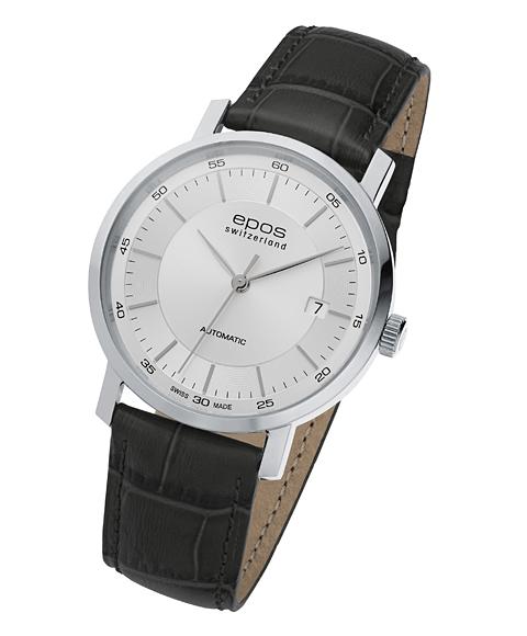 エポス オリジナーレ デイト 3387SL 腕時計 メンズ 自動巻 epos レザーストラップ