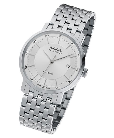 アウトレット 半額 エポス オリジナーレ デイト 3387SLM 腕時計 メンズ 自動巻 epos メタルブレス