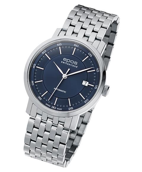 海外取寄せ エポス オリジナーレ デイト 3387BLM 腕時計 メンズ 自動巻 epos エポス メタルブレス ブルー系