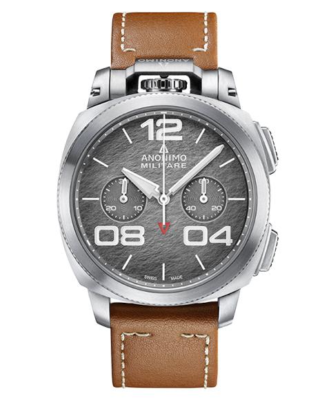 アウトレット 62%OFF! アノーニモ ミリターレクロノ 1120.01.002.A02 腕時計 メンズ ANONIMO MILITARECHRONO 自動巻 レザーストラップ ブラウン系