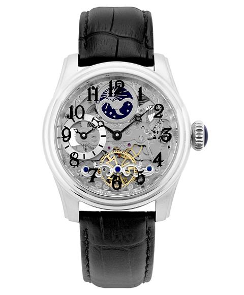 アルカフトゥーラ メカニカルスケルトン ツインバレル 965ABK 自動巻 腕時計 メンズ ARCAFUTURA クロノグラフ レザーストラップ