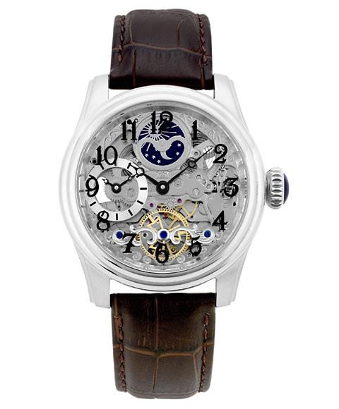 アルカフトゥーラ メカニカルスケルトン ツインバレル 965ABR 自動巻 腕時計 メンズ ARCAFUTURA レザーストラップ ブラウン系