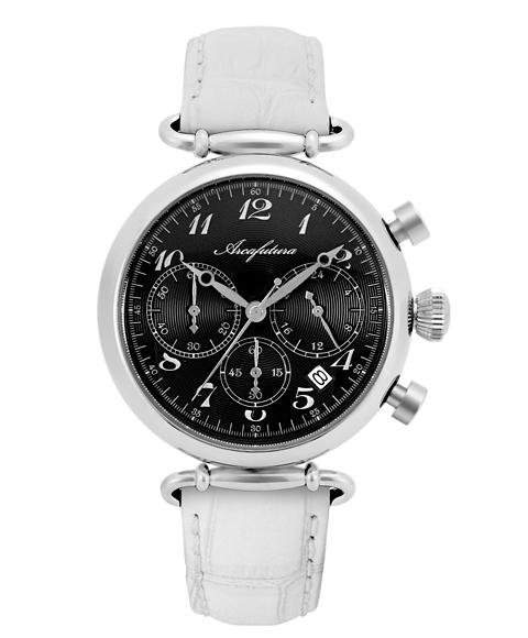 アルカフトゥーラ 515BKWH 腕時計 メンズ ARCAFUTURA レザーストラップ ホワイト系