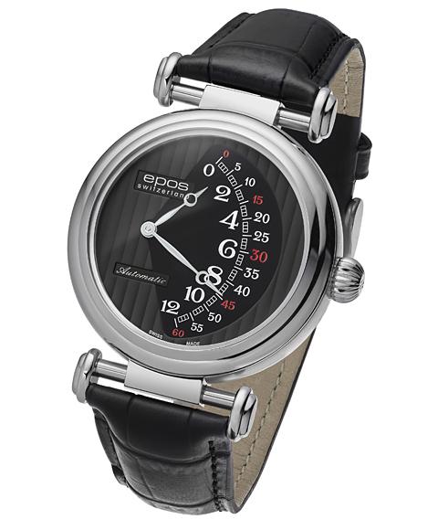 エポス オリジナーレ ダブルレトログラード リミテッドエディション 3431BK LTD888 腕時計 メンズ 自動巻 epos 限定モデル レザーストラップ