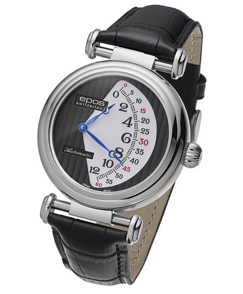 エポス オリジナーレ ダブルレトログラード リミテッドエディション 3431BKWH LTD888 腕時計 メンズ 自動巻 epos 限定モデル レザーストラップ