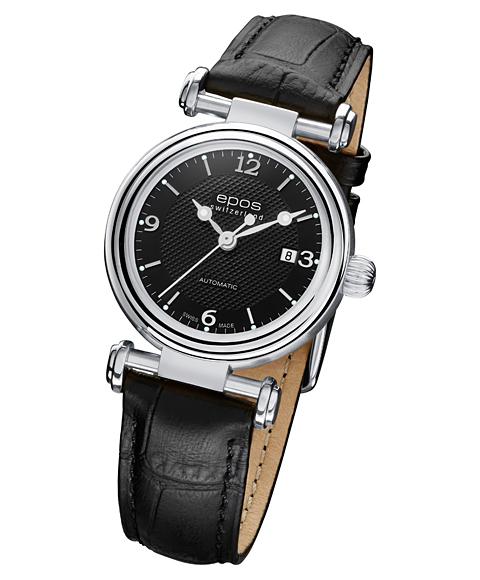 エポス オリジナーレ デイト レディース 4430BK 腕時計 自動巻 epos レザーストラップ