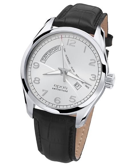 エポス パッション デイデイト 3402NSL 腕時計 メンズ 自動巻 epos 自動巻 レザーストラップ