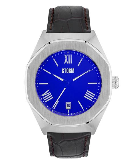 ストーム ロンドン 47305LB COBAIN 腕時計 メンズ STORM LONDON クロノグラフ レザーストラップ ブルー系