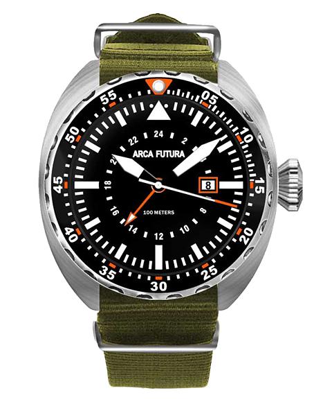 アウトレット アルカフトゥーラ 3750BK1 腕時計 メンズ ARCAFUTURA ダイバーズ クロノグラフ オリーブ系