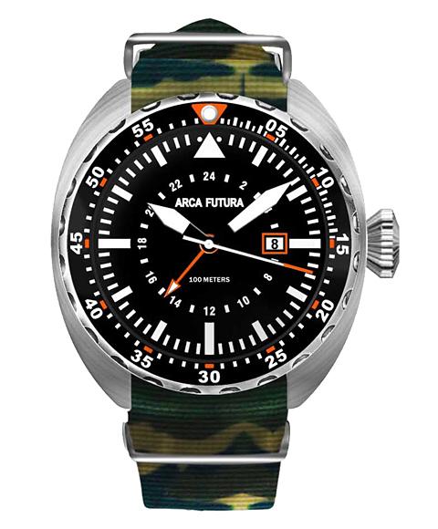 アウトレット アルカフトゥーラ 3750BK2 腕時計 メンズ ARCAFUTURA ダイバーズ クロノグラフ