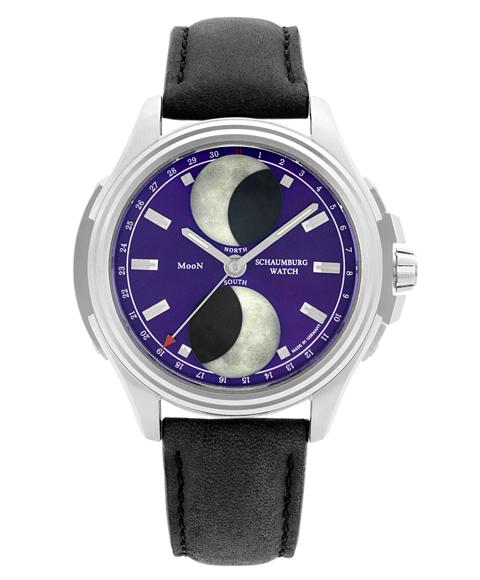 最上の品質な シャウボーグ アーバニック ダブルムーン URBANIC-DMOONBL 腕時計 メンズ SCHAUMBURG URBANIC DOUBLE MOON 自動巻 レザーストラップ, 津田SAKE店 51f92747