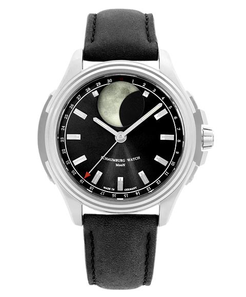 シャウボーグ アーバニック ムーン URBANIC-MOONBK 腕時計 メンズ SCHAUMBURG URBANIC MOON 自動巻 レザーストラップ