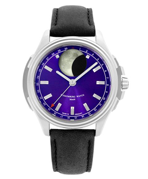 シャウボーグ アーバニック ムーン URBANIC-MOONBL 腕時計 メンズ SCHAUMBURG URBANIC MOON 自動巻 レザーストラップ