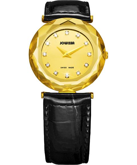アウトレット 半額 ジョウィサ J1シリーズ サファイア 1.032.M 腕時計 レディース JOWISSA Safira 99 ゴールド レザーストラップ