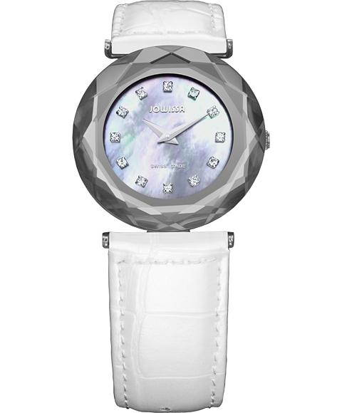アウトレット 半額 ジョウィサ J1シリーズ サファイア 1.069.M 腕時計 レディース JOWISSA Safira 99 レザーストラップ ホワイト系
